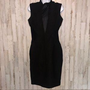 Bardot Black Mesh Sleeveless Bodycon Dress